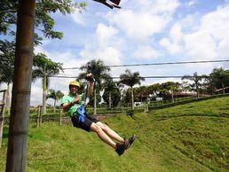 Seilruzschen während der Rundreise in Kolumbien