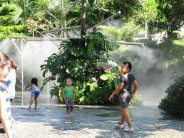 Am Wasser spielende Kinder