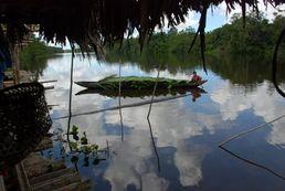 Kanu im Orinoco Delta von Venezuela