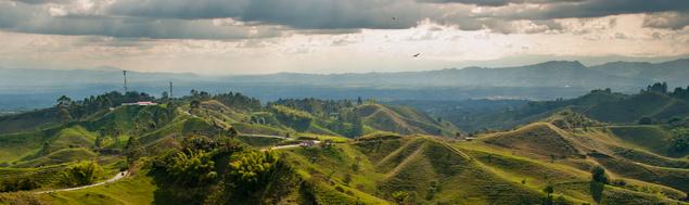Die Kaffeezone in Kolumbien