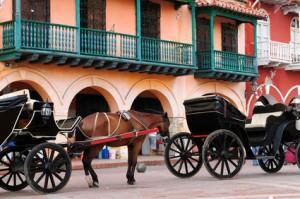 Pferdekutsche bei einer Cartagena Tour