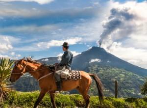 Reiten in Kolumbien direkt am Vulkan