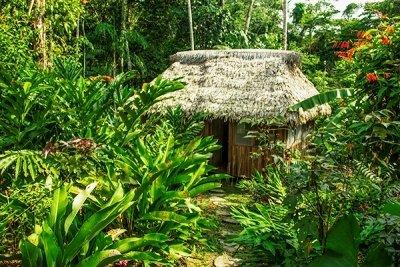 Hütte der Lodge