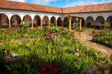 Kolonialhaus in Villa de Leyva bei einer Erlebnisreise in Kolumbien