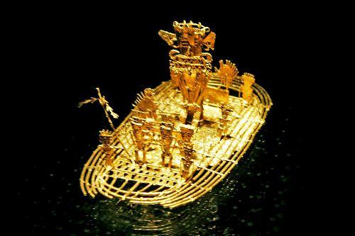 Boot im Goldmuseum in der Hauptstadt Kolumbien