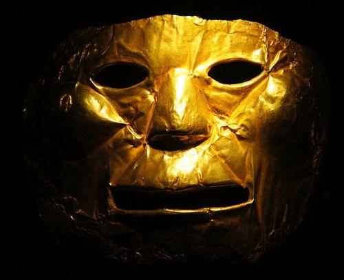 Eine Maske im Goldmuseum in Bogota