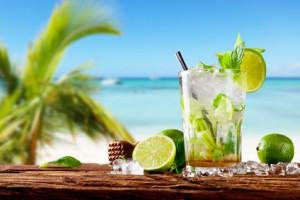 Mojita Cocktail während eines Karibik Urlaubs