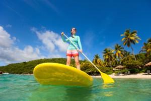 Stand Up Paddle in der Karibik