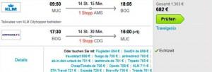 Billigflug mit KLM und Air France nach Bogota