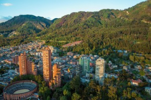 Die Hauptstadt Bogota in Kolumbien