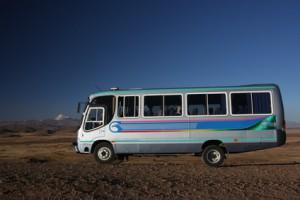 Bus in den Anden Kolumbiens
