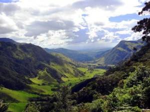 panorama kaffeezone kolumbien