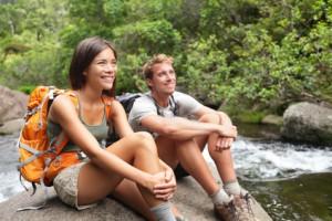 Paar beim Trekking