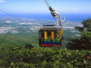 Seilbahn in der dominikanischen Republik