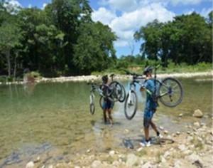 Mountainbiketour am Flusslauf