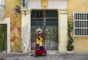 Kolumbianische Frau in Cartagena